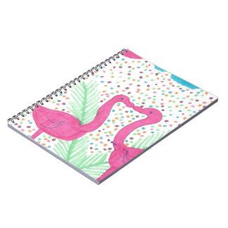 Cuaderno Modelo tropical de la diversión del flamenco