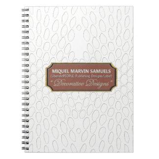 Cuaderno moderno blanco del reptil Decorative#1-a