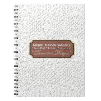 Cuaderno moderno blanco del reptil Decorative#1-b