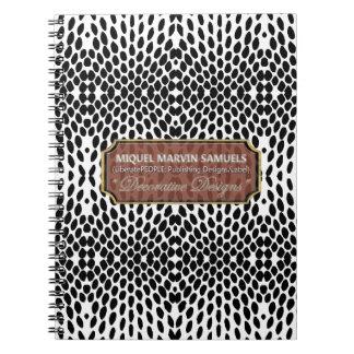 Cuaderno moderno blanco negro decorativo del