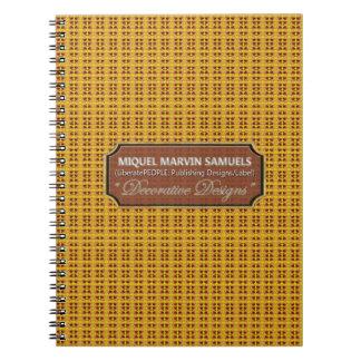 Cuaderno moderno de la naturaleza del modelo de