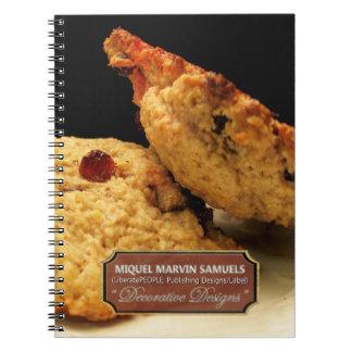 Cuaderno moderno decorativo de la comida de la