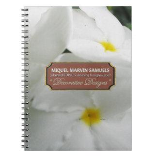 Cuaderno moderno decorativo de la naturaleza del