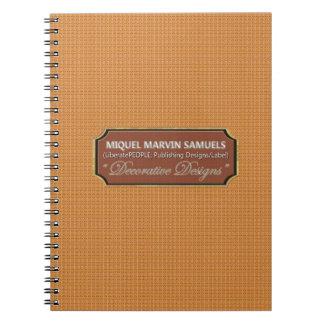 Cuaderno moderno decorativo de los ranúnculos