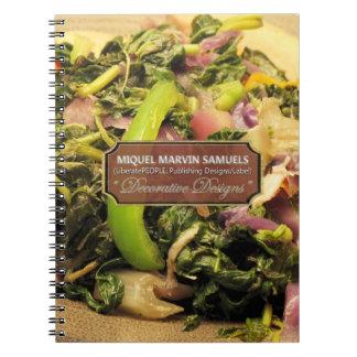 Cuaderno moderno decorativo vegetariano de la