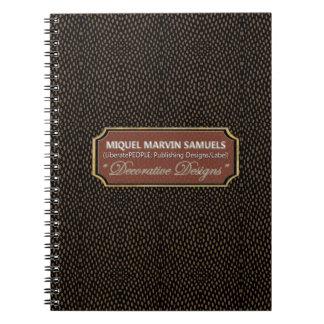 Cuaderno moderno negro de Brown del punto
