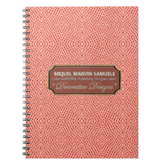 Cuaderno moderno rosado rojo del modelo del reptil