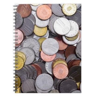 Cuaderno monedas rumanas