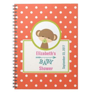 Cuaderno Mono del bebé de Brown con la fiesta de bienvenida