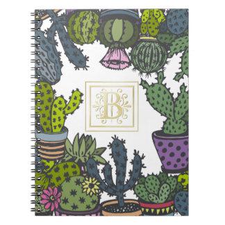 Cuaderno Monograma B del cactus