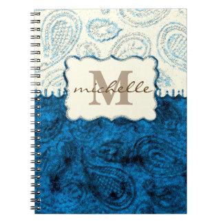 Cuaderno Monograma del modelo de Paisley