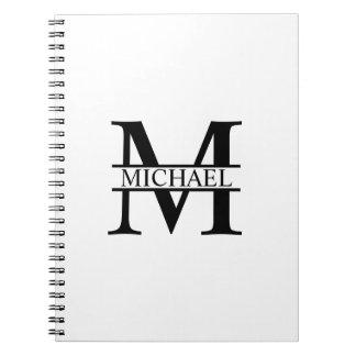 Cuaderno Monograma y nombre personalizados