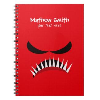 Cuaderno Monstruo enojado con los males de ojo y los