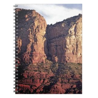 Cuaderno monumento agradable de la roca