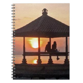 Cuaderno Moring en la isla de Bali