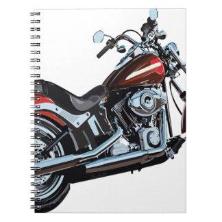 Cuaderno Motorista de la bici de la motocicleta