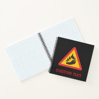 Cuaderno Muestra del peligro del pimiento picante