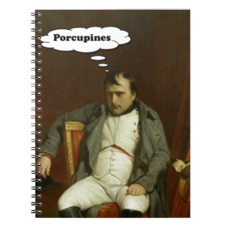 Cuaderno Napoleon piensa en puercos espines