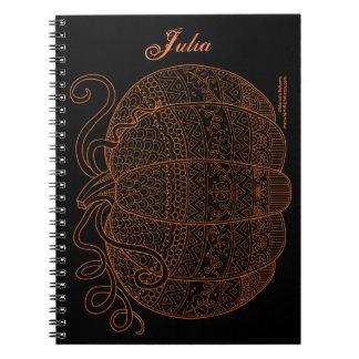 Cuaderno Naranja del arte de la caída de la acción de