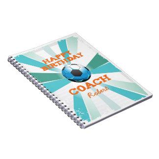 Cuaderno Naranja del coche del fútbol de Bday/trullo