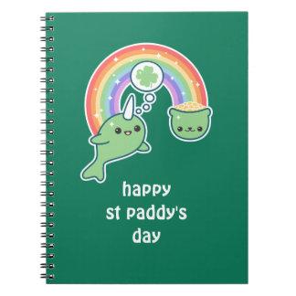 Cuaderno Narwhal afortunado