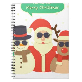 Cuaderno navidad del reno