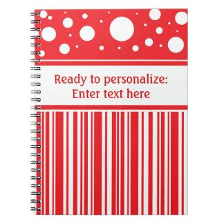 Cuaderno Navidad rojo y blanco