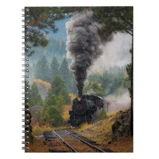 Cuaderno negro del motor de vapor