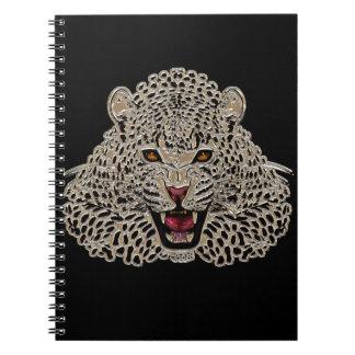 Cuaderno negro y de oro del tigre
