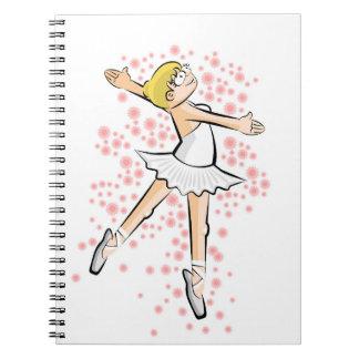 Cuaderno Niña bailarina de Ballet bailando con gracia