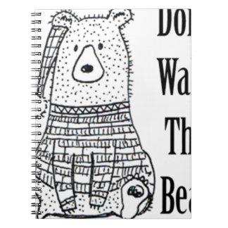 Cuaderno No despierte el oso