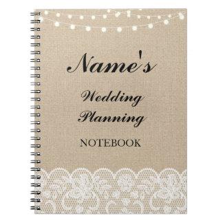 Cuaderno Notas rústicas del cordón de la arpillera del