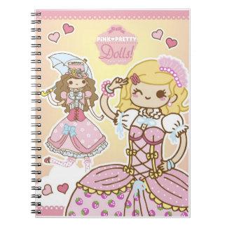 Cuaderno Notebook Pink Pretty Dolls!