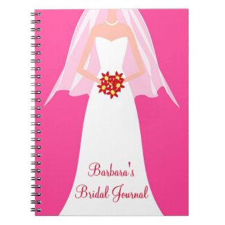 Cuaderno nupcial personalizado del diario