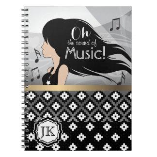 Cuaderno Oh el sonido del chica de la música