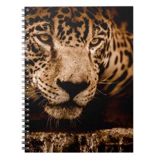 Cuaderno ojos de acecho del agua del jaguar
