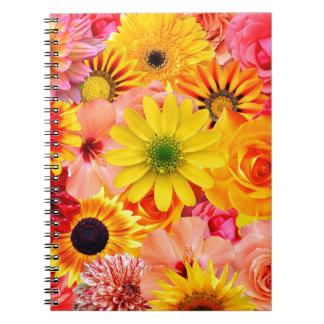 Cuaderno Orange flowers_ Gloria Sanchez
