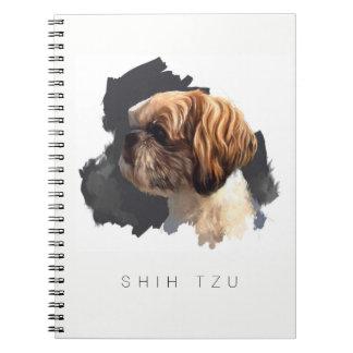 Cuaderno original del arte de Shih Tzu
