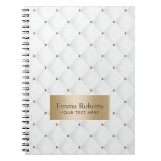 Cuaderno Oro acolchado lujo y blanco de Moden