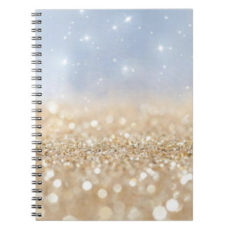 Cuaderno Oro y brillo azul