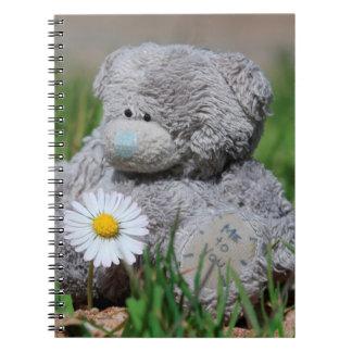 Cuaderno Oso de peluche lindo con la margarita