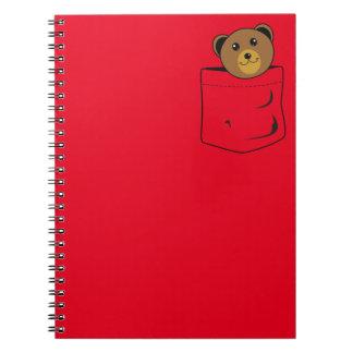 Cuaderno Oso en bolsillo