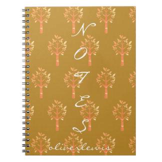 Cuaderno Otoño de la forma de vida de Ol por todo el