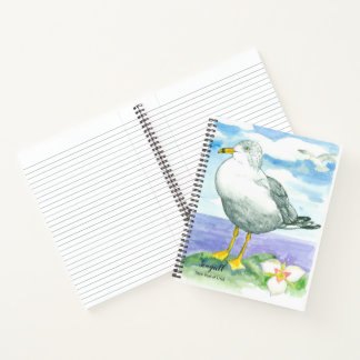 Cuaderno Pájaro de estado de la gaviota de la orilla del