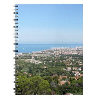 Cuaderno Panorama aéreo espectacular de la ciudad de