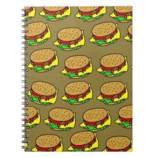 Cuaderno Papel pintado de la hamburguesa