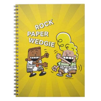 Cuaderno Papel Wedgie de la roca de capitán Underpants el |