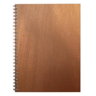 Cuaderno Para el amor de metálico - luz tenue de cobre