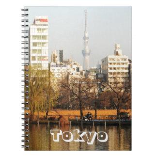 Cuaderno Parque de Ueno en Tokio, Japón