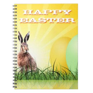 Cuaderno PASCUA FELIZ - conejito y huevos